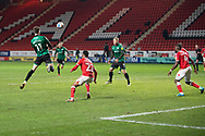 Rochdale's Jake Beesley during the EFL Sky Bet League 1 match between Charlton Athletic and Rochdale at The Valley, London, England on 12 January 2021.