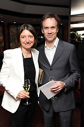 Chef MARCUS WAREING and his wife JANE at a party to celebrate The Waterside Inn's 25 years as a 3 star Michelin restaurant held at The Waterside Inn, Bray, Berkshire on 18th May 2010.