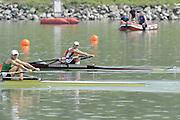 Ottensheim, AUSTRIA.  A  Final,  LW1X,  Swiss, SUI LW1X Pamela WEISSHAUPT win's Gold as Ireland's Sinead JENNINGS takes the silver, at the 2008 FISA Senior and Junior Rowing Championships,  Linz/Ottensheim. Sunday,  27/07/2008.  [Mandatory Credit: Peter SPURRIER, Intersport Images] Rowing Course: Linz/ Ottensheim, Austria