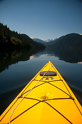 Kayaking, Ross Lake National Recreation Area, North Cascades National Park, Washington, US