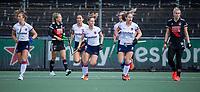 AMSTELVEEN - Mette Winter (SCHC) heeft gescoord tijdens de hoofdklasse hockeywedstrijd dames, zonder publiek vanwege COVID-19, AMSTERDAM-SCHC (2-2). COPYRIGHT KOEN SUYK