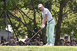 August 12, 2018 - Town And Country, Missouri, U.S - JUSTIN THOMAS from Goshen Kentucky, USA gets ready to tee off on hole two during round four of the 100th PGA Championship on Sunday, August 12, 2018, held at Bellerive Country Club in Town and Country, MO (Photo credit Richard Ulreich / ZUMA Press) (Credit Image: © Richard Ulreich via ZUMA Wire)
