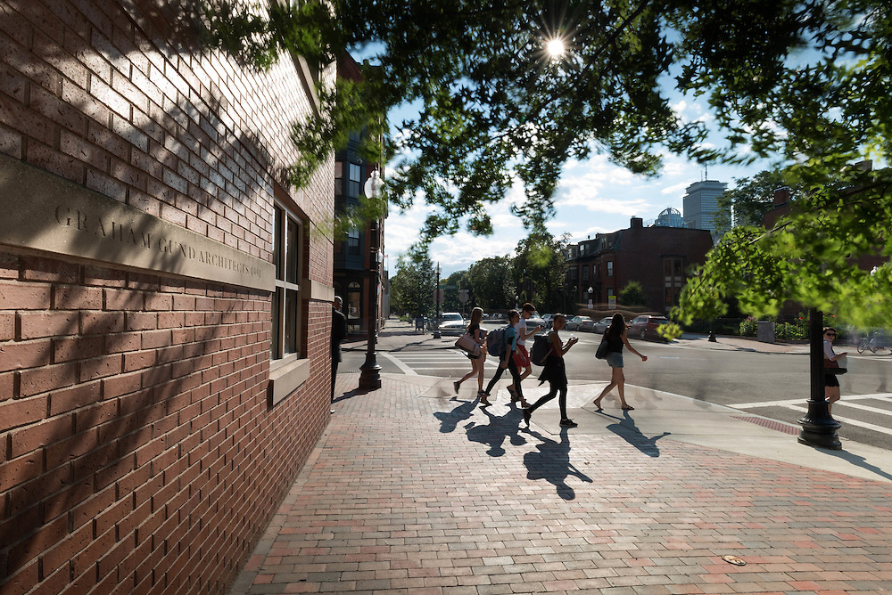 Taken Wednesday, July 22nd, 2015 from 5:13-5:29PM.  Found and © by Mike Ritter.<br /> <br /> Throughout the summer, young ballerinas can be seen walking on Clarendon St. between Boston Ballet and Back Bay Station.  They come here to learn from some of the world's best.  Just behind me was a plaque honoring Local 7 ironworker Robert L. Laneau who died during building construction on July 28th, 1990.