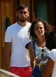 Milan A.C. goalkeeper Gigio Donnarumma spotted with girl friend Alessia Elefante in Portofino. 30 Jul 2017 Pictured: Gigio Donnarumma, Alice Elefante. Photo credit: Ceres / MEGA TheMegaAgency.com +1 888 505 6342