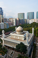 Chine, Hong Kong, Kowloon, Tsim Sha Tsui, Nathan Road, mosquee Masjid // China, Hong Kong, Kowloon, Tsim Sha Tsui, Nathan Road, Masjid Mosque