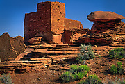 The Wupatki National Monument is a National Monument located in north-central Arizona, near Flagstaff. Rich in Native American ruins, the monument is administered by the National Park Service in close conjunction with the nearby Sunset Crater Volcano National Monument.