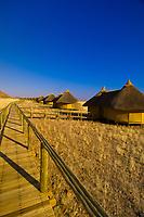 Chalets, Sossus Dunes Lodge near the Sossusvlei Sand Dunes (highest dunes in the world), Namib Desert, Namib-Naukluft National Park, Namibia