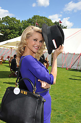 CHRISTIE BRINKLEY at the 27th annual Cartier International Polo Day featuring the 100th Coronation Cup between England and Brazil held at Guards Polo Club, Windsor Great Park, Berkshire on 24th July 2011.