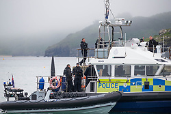© Licensed to London News Pictures. 11/06/2021. St Ives, UK. Police are present in St Ives in Cornwall as the G7 summit starting today. About 6,500 police officers secure a meeting of world leaders with over 5,000 from all over the country. Estimated cost of policing is £70m. Photo credit: Marcin Nowak/LNP