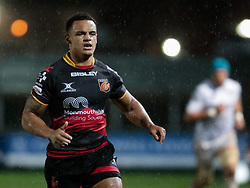 Dragons' Ashton Hewitt<br /> <br /> Photographer Simon King/Replay Images<br /> <br /> Guinness Pro14 Round 12 - Dragons v Cardiff Blues - Sunday 31st December 2017 - Rodney Parade - Newport<br /> <br /> World Copyright © 2017 Replay Images. All rights reserved. info@replayimages.co.uk - http://replayimages.co.uk