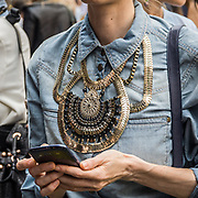Terzo giorno della Settimana della Moda a Milano edizione 2013: al palazzo del ghiaccio per la sfilata di Etro<br /> <br /> Third day of Milan fashion week 2013 edition: at the ice palace for the Etro fashion show.