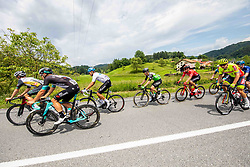 Group Leaders during 2nd Stage of 27th Tour of Slovenia 2021 cycling race between Zalec and Celje (147 km), on June 10, 2021 in Zalec - Celje, Zalec - Celje, Slovenia. Photo by Vid Ponikvar / Sportida