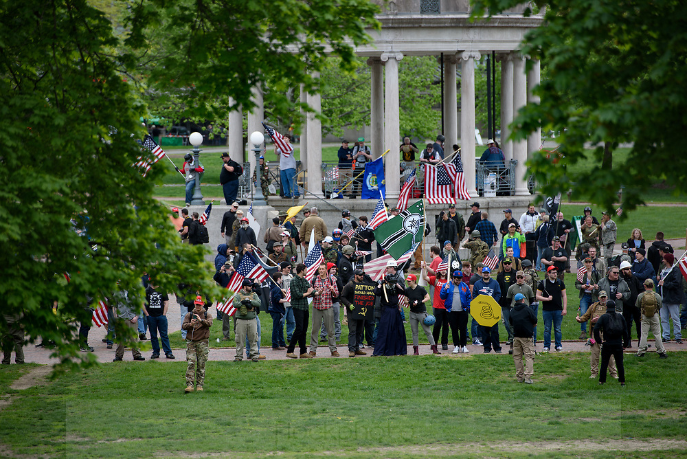 Factions of the alt-right gather at Boston Common during a protest billed as a free speech rally, May 13, 2017.<br /> Photo / Kate Flock