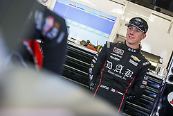 July 20, 2018 - Loudon, New Hampshire, United States of America - John Hunter Nemechek (42) hangs out in the garage prior to final practice for the Lakes Region 200 at New Hampshire Motor Speedway in Loudon, New Hampshire. (Credit Image: © Justin R. Noe Asp Inc/ASP via ZUMA Wire)