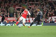 Arsenal defender Hector Bellerin (24) controls the ball during the Champions League round of 16, game 2 match between Arsenal and Bayern Munich at the Emirates Stadium, London, England on 7 March 2017. Photo by Matthew Redman.