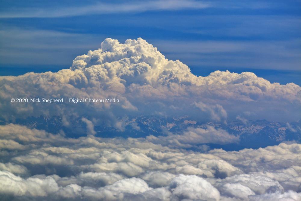 Picos de Europa in the Pyrénées taken from 11,000 Feet in a light aircraft.