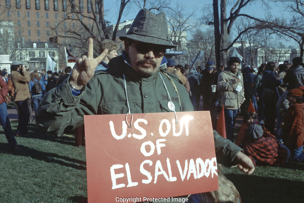 A demonstration iin Lafayette Park in March 1982..Photo by Dennis Brack BSB 18