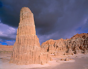 Eroded Clay Formation and Clearing Storm,Cathedral Gorge State Park, Nevada