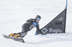 Khatomchenkova E. during the FIS snowboarding world cup race in Rogla (SI / SLO) | GS on January 20, 2018, in Jasna Ski slope, Rogla, Slovenia. Photo by Urban Meglic / Sportida