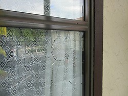March 15, 2019 - Christchurch, New Zealand - 15 March 2019. At least 27 have been killed, 30 wounded in shooting in two mosques in Christchurch, New Zealand. In photo: a hotel window broken by a shotgun at a hotel on Deans Avenue. (Credit Image: © Russian Look via ZUMA Wire)