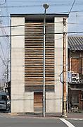Wakuden Restaurant. Reinforced concrete and chestnut timber. Architect: KishiWaro, K Associates. Kyoto, Japan, 2004