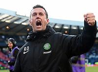 01/02/15 SCOTTISH LEAGUE CUP SEMI-FINAL<br /> CELTIC v RANGERS<br /> HAMPDEN - GLASGOW<br /> Celtic manager Ronny Deila celebrates at full-time