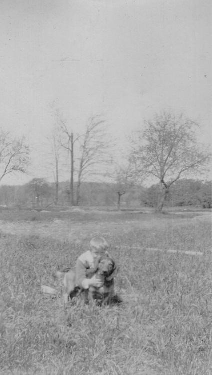 John DeYoung with dog, Rondo