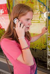 Teenage girl on phone.