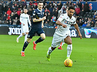 Football - 2018 / 2019 Sky Bet EFL Championship - Swansea City vs. Millwall<br /> <br /> Wayne Routledge of Swansea City on the attack, at The Liberty Stadium.<br /> <br /> COLORSPORT/WINSTON BYNORTH