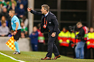 Estonia Manager Martin Reim urges on his team during the UEFA European 2020 Qualifier match between Northern Ireland and Estonia at National Football Stadium, Windsor Park, Northern Ireland on 21 March 2019.