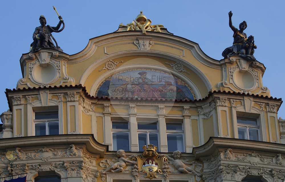 The Ministry of Local Development building in the Old Town quarter of Prague, Czech Republic. The Art Nouveau building was designed by Osvald Polivka in 1898.