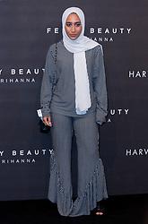 Mariah Idrissi arrives at the Fenty Beauty by Rihanna launch party at Harvey Nichols, Knightsbridge, London,
