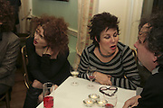 HELENA BONHAM-CARTER AND RUBY WAX, PARTY AT DARTMOUTH HOUSE AFTER A PREMIERE SCREENING OF PERFUME AT THE CURZON. LONDON.<br />
