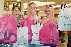 Meadowhall Student Lock In Happy Shoppers (Alice Roughton of MK get these girls names).29th September2011. Image © Paul David Drabble