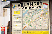 Walking map of the village and surrounding area, Villandry, France