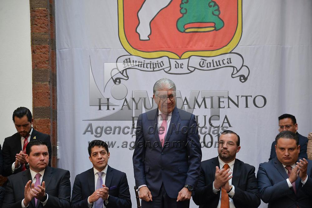 Toluca, México (Febrero 05, 2018).- Alejandro Ozuna Rivero, Secretario Genera de Gobierno, durante la publicación  del Bando Municipal de Toluca 2018.  Agencia MVT / Crisanta Espinosa.