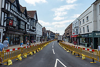 Stratford upon Avon and its measures for coping with non essential shops opening. This has caused uproar with locals who say it is impossible to navigate through and causes masses of congestion on adjoining roads . Many residents have voiced the opinion that it would be better to just close the roads completely.