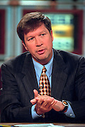 House Budget Chairman Rep. John Kasich discusses the upcoming elections during NBC's Meet the Press November 1, 1998 in Washington, DC.