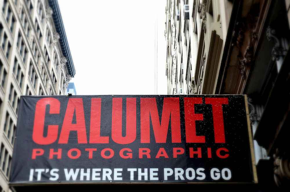Photograph of Calumet Photographic at the Flat Iron District in Manhattan.