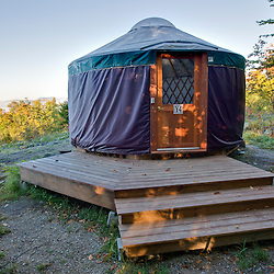 A yurt at Milan Hill State Park in Milan, New Hampshire.