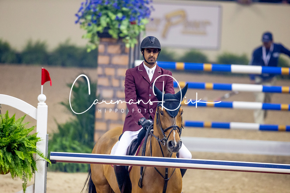 Sheikh Ali Al Thani Bin Khalid, QAT, First Devision<br /> World Cup Final Jumping - Las Vegas 2015<br /> © Hippo Foto - Dirk Caremans<br /> 18/04/2015
