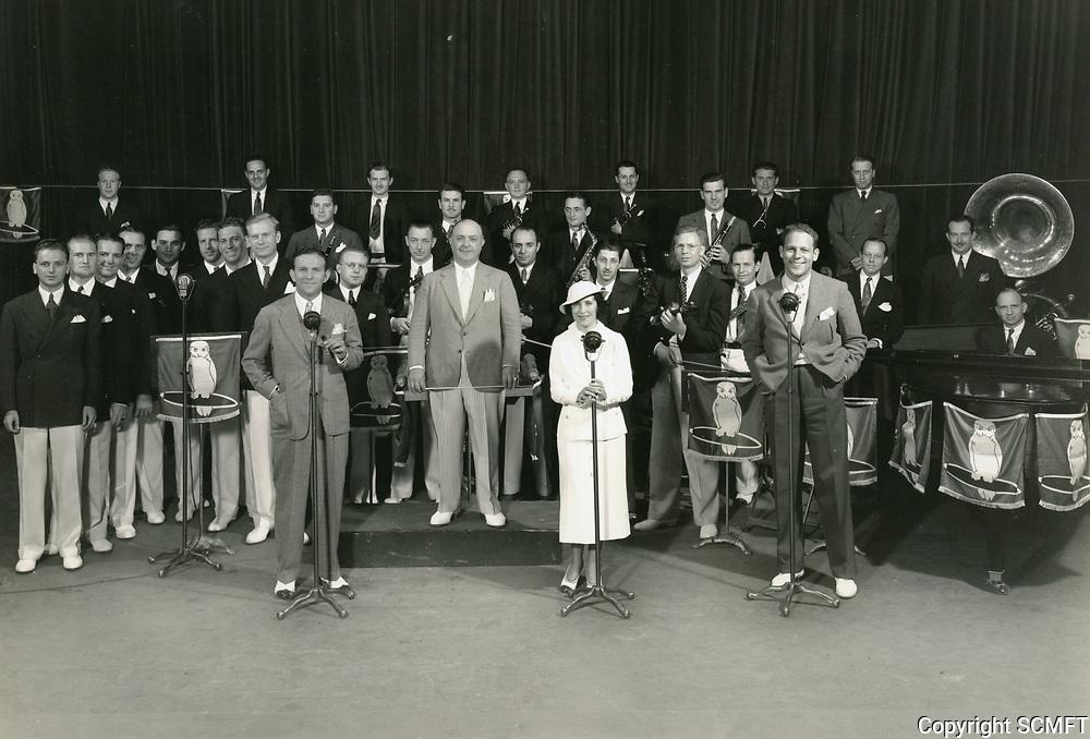1938 George Burns & Gracie Allen at CBS Radio on Sunset Blvd.