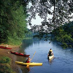 Canterbury, NH.Beginning a paddling trip on the Merrimack River.  Gold Star Farm.
