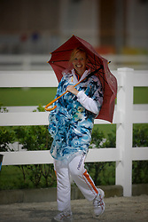 Anky in typhoon in Hong Kong<br /> Olympic Games Hong Kong 2008<br /> Photo © Dirk Caremans - Hippo Foto