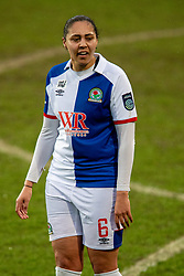 BIRKENHEAD, ENGLAND - Sunday, March 28, 2021: Blackburn Rovers' Jade Richards during the FA Women's Championship game between Liverpool FC Women and Blackburn Rovers Ladies FC at Prenton Park. The game ended in a 1-1 draw. (Pic by David Rawcliffe/Propaganda)