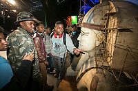 An educational tour of the Special Effects Stage at Universal Studios Hollywood. January 31, 2014. Photo by David Sprague