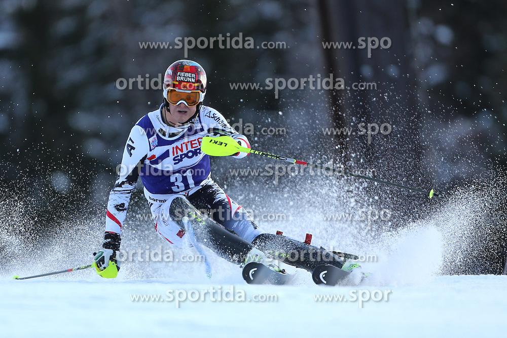 06.01.2014, Stelvio, Bormio, ITA, FIS Weltcup Ski Alpin, Bormio, Slalom, Herren, im Bild Manuel Feller // Manuel Feller  in action during mens Slalom of the Bormio FIS Ski World Cup at the Stelvio in Bormio, Italy on 2014/01/06. EXPA Pictures © 2014, PhotoCredit: EXPA/ Sammy Minkoff<br /> <br /> *****ATTENTION - OUT of GER*****