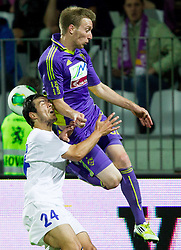 Matic Zitko #24 of Celje vs Robert Beric #32 of Maribor during football match between NK Maribor and NK Celje in final of Slovenian Cup 2013 on May 29, 2013 in Stadium Bonifika, Koper, Slovenia. Maribor defeated Celje 1-0 and became Slovenian Cup Champion 2013. (Photo By Vid Ponikvar / Sportida)