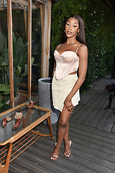 12 August 2021 - A dinner to celebrate the launch of Ghost Fragrances' alluring new scent , 'Orb of Night' held at The Mandrake Hotel, 20-21 Newman Street, London. <br /> Picture shows - Mariam Musa<br /> <br /> Photo by Dominic O'Neill/Desmond O'Neill Features Ltd.  +44(0)1306 731608  www.donfeatures.com