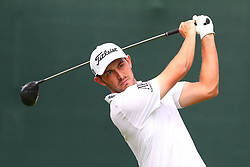 August 25, 2018 - Paramus, NJ, U.S. - PARAMUS, NJ - AUGUST 25:  Patrick Cantlay of the United States plays his shot from the first tee  during the third round of The Northern Trust on August 25, 2018 at the Ridgewood Championship Course in Ridgewood, New Jersey.   (Photo by Rich Graessle/Icon Sportswire) (Credit Image: © Rich Graessle/Icon SMI via ZUMA Press)